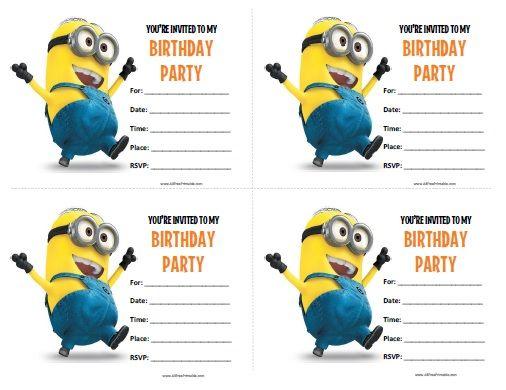 minions birthday invitations