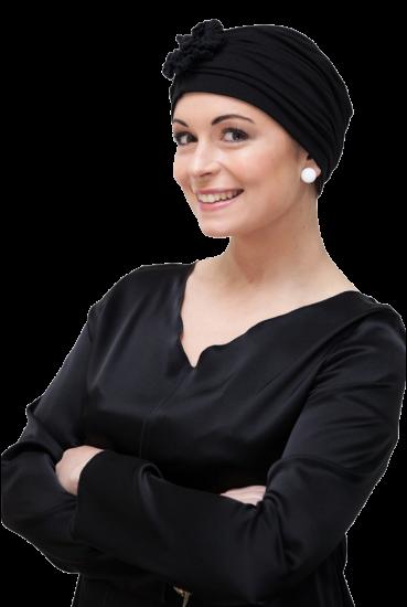 black evening chemo turban for hair loss Hair hair, Look