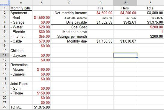 Financial Planning Worksheet Excel Budget Templates Pinterest