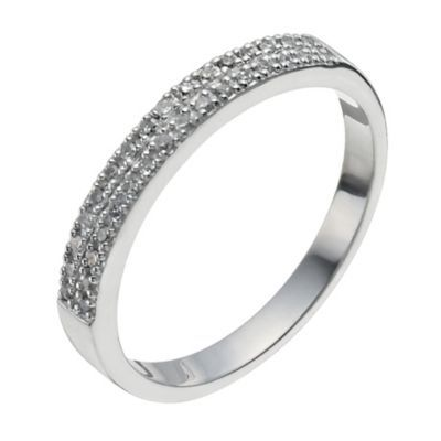 9ct White Gold 10 Point Diamond Ring Rings White Gold Wedding Rings