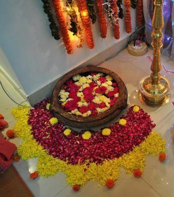 Decors for ganesh chathurthi ganesha pinterest for Diwali decorations at home