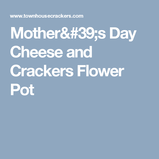 Mother's Day Cheese and Crackers Flower Pot