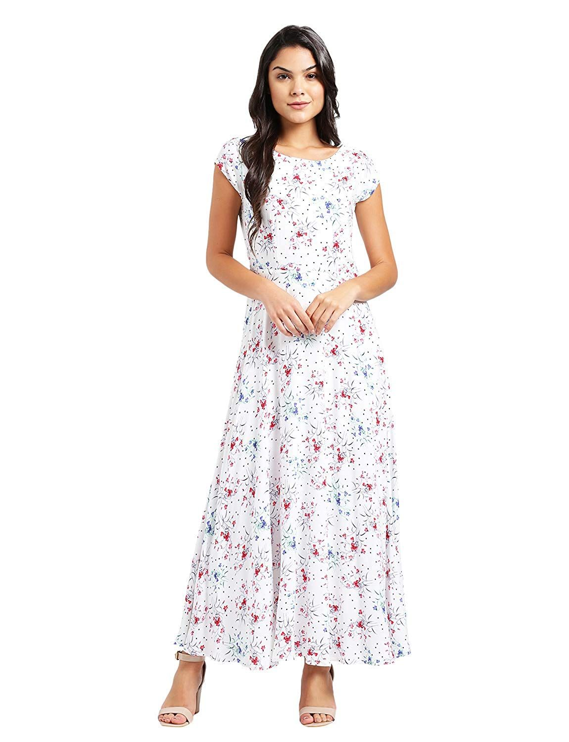 cbafd10a96 Zink London Women s Maxi Dress  Amazon.in  Clothing   Accessories ...