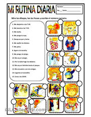 Rutina diaria and lots of worksheets here. Just search for ...