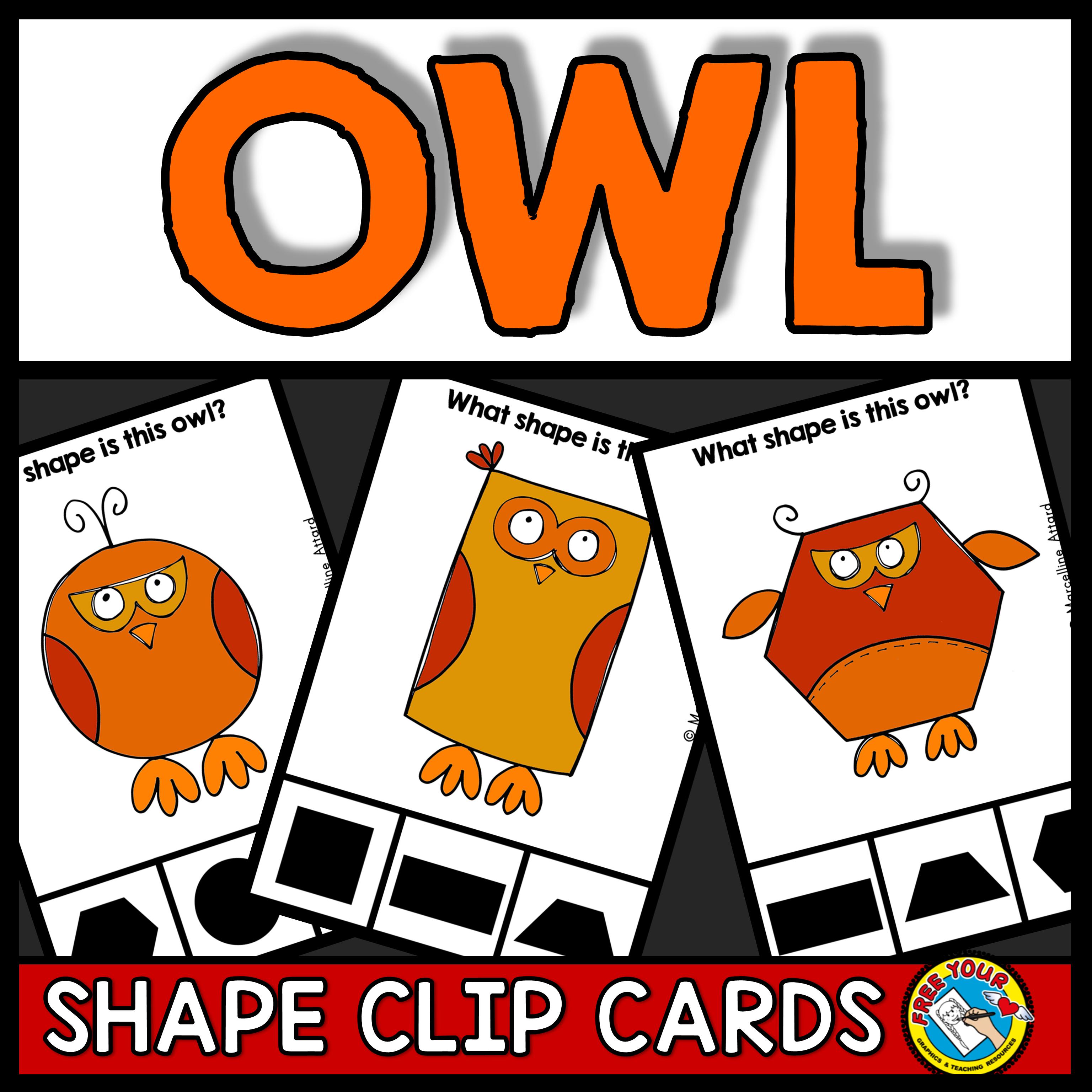 Fall Activities Kindergarten Owl Shapes Recognition Clip