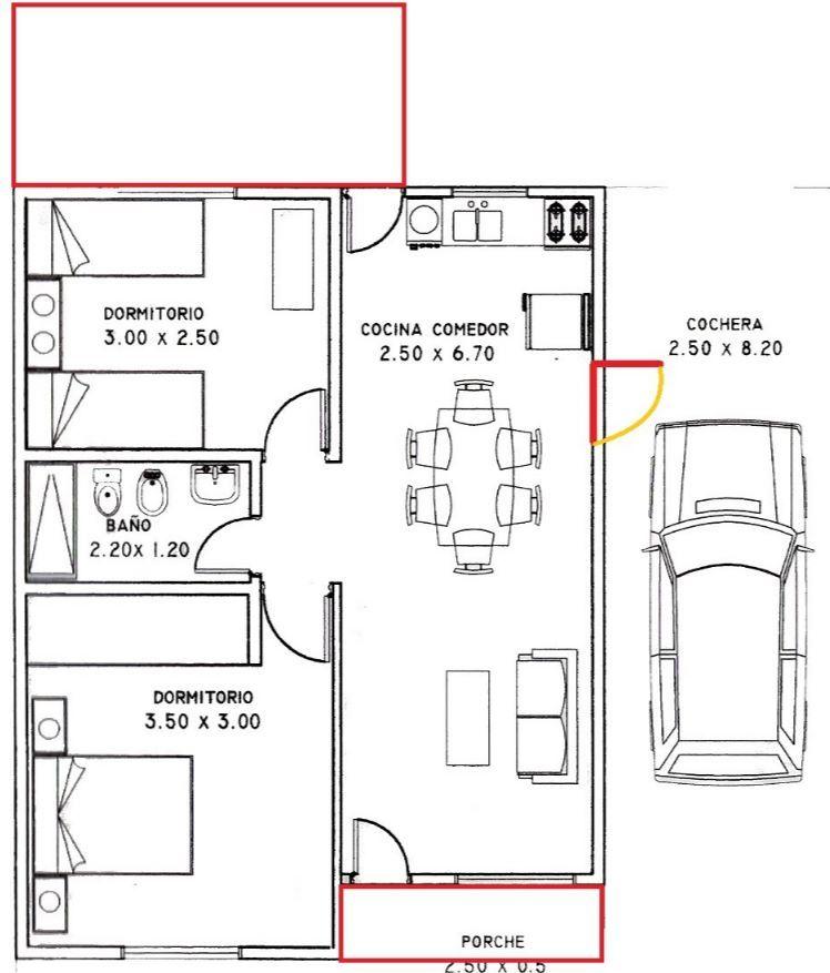Como hacer distribuci n casa 80 metros cuadrados planos for Distribucion de casas modernas de una planta