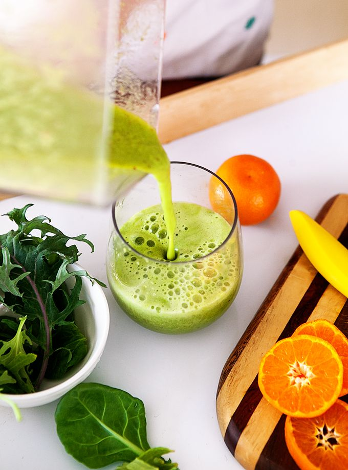 This delicious smoothie has more than 100% of your daily recommended Vitamin C