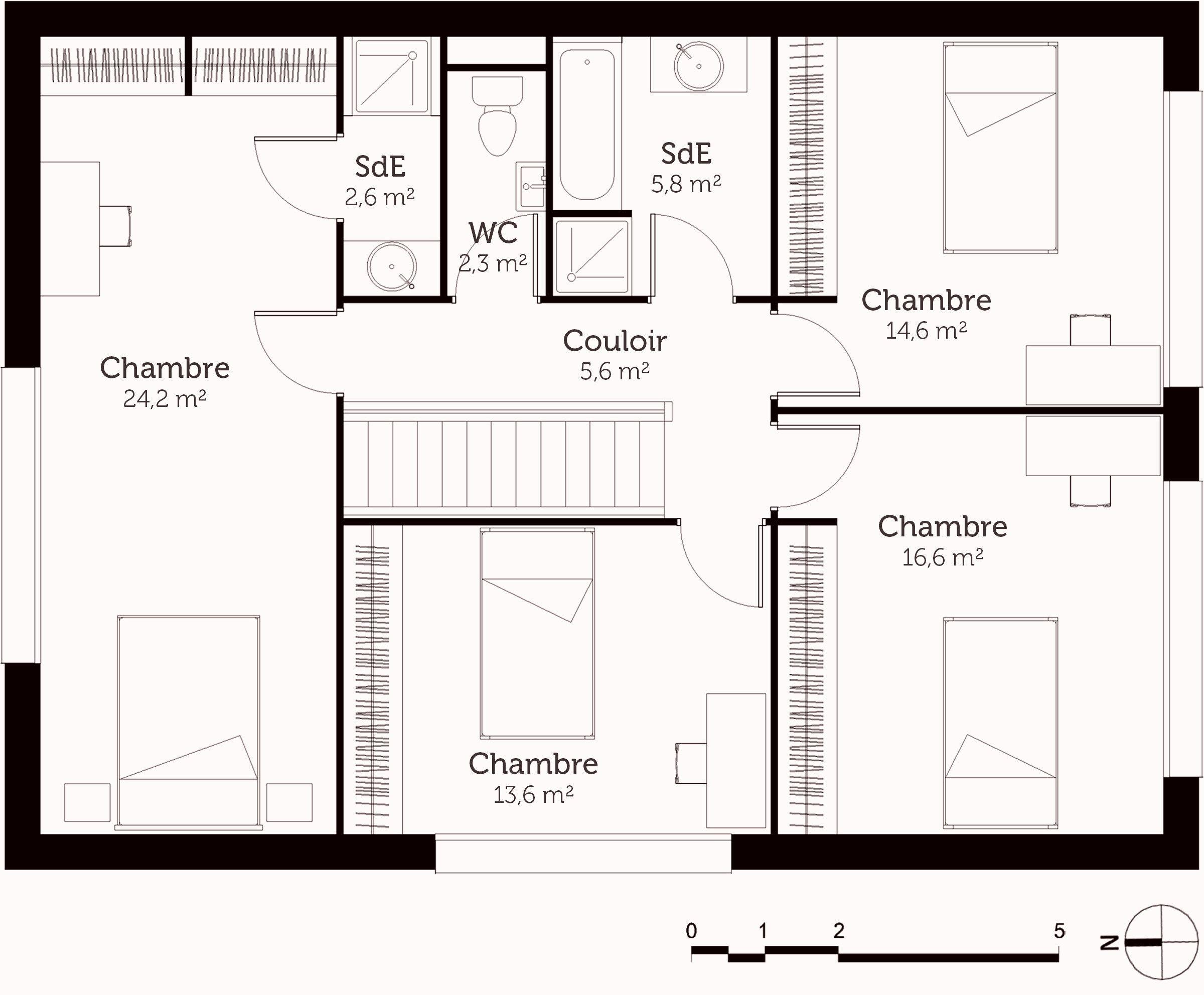 Fresh Plan Maison 6 Chambres