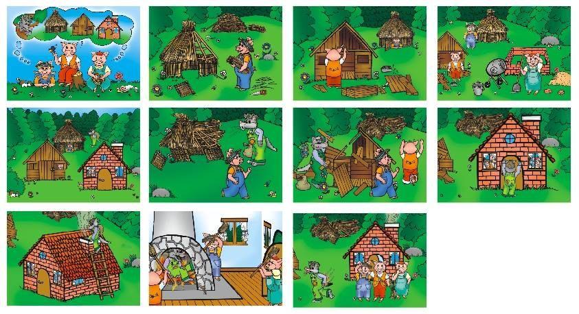 картинки схемы к сказке три поросенка
