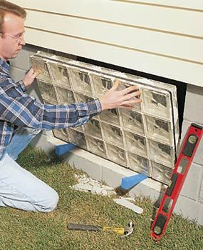 installing glass block windows in basement basement ideas rh pinterest com Installing Block Basement Windows DIY Glass Blocks Basement Windows
