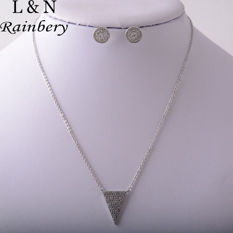 Rainbery Inverted Triangle Choker Necklaces For Women Simple Alloy ...