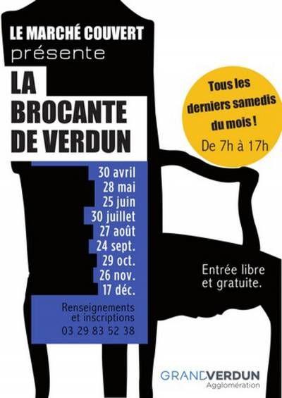 Affiche La Brocante De Verdun S Amuser Marche Couvert Brocante