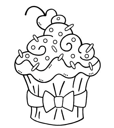Cute Cupcake Cupcake Coloring Pages Coloring Pages Adult