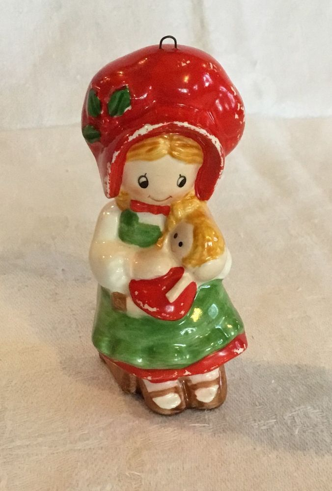 Vintage holly hobbie ceramic christmas ornament 1982 american vintage holly hobbie ceramic christmas ornament 1982 american greetings m4hsunfo Image collections