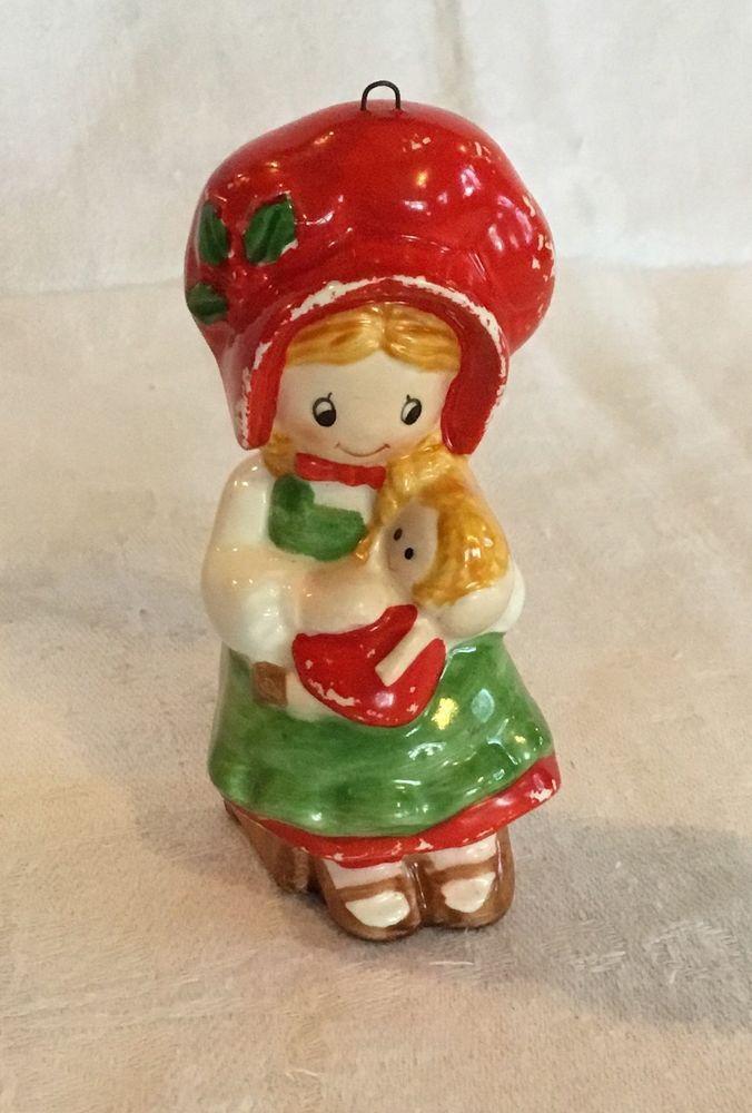 Nice American Greeting Christmas Ornaments Part - 13: Vintage Holly Hobbie Ceramic Christmas Ornament 1982 American Greetings
