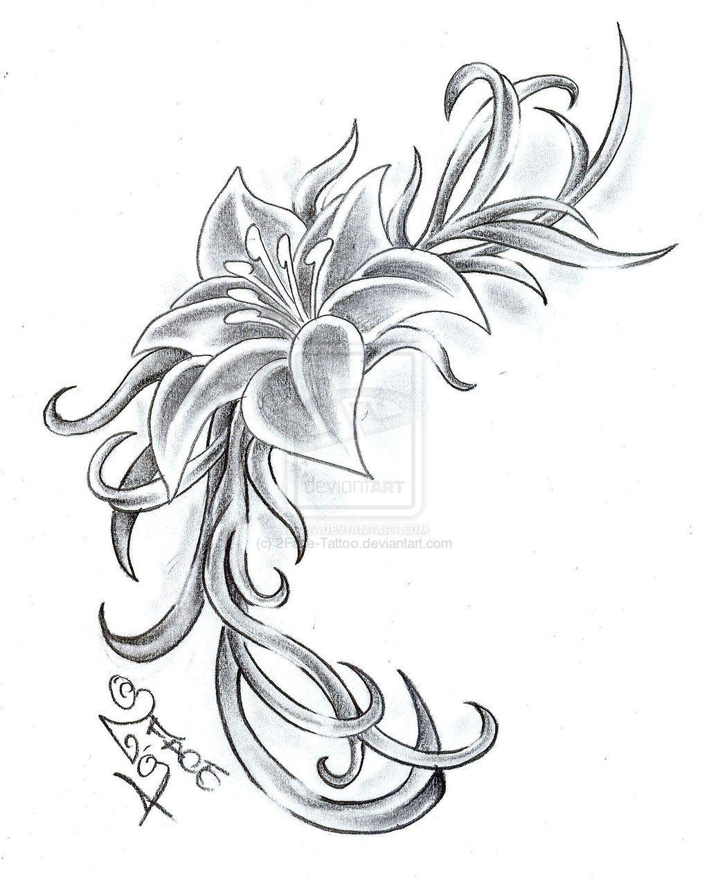 Flower Climb Tattoo Design By 2facetattooiantart On @deviantart