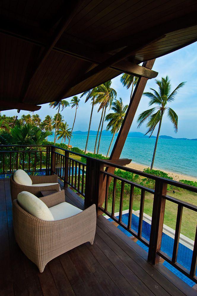 Balcony View from Beachfront Villa