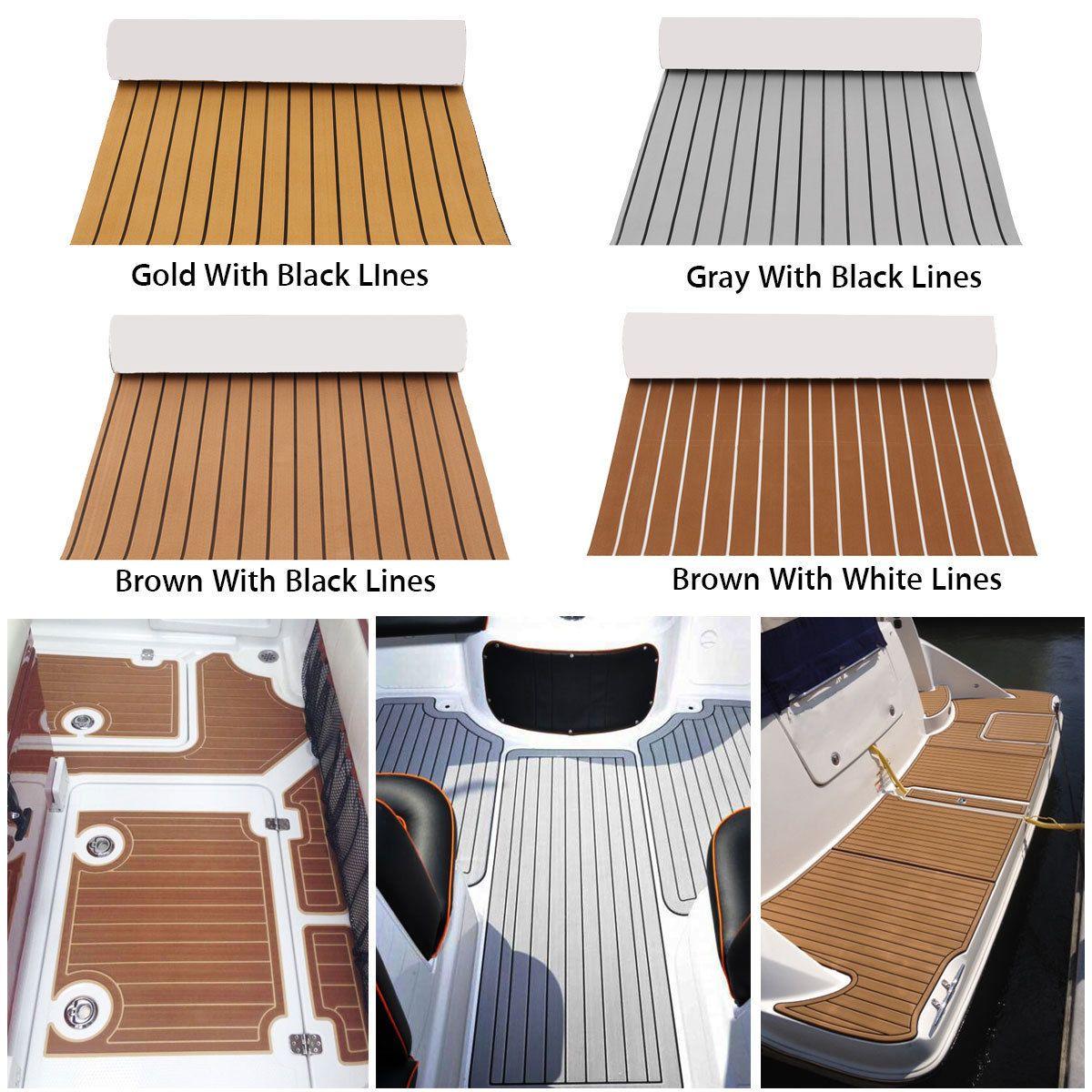 Marine Boat Flooring Eva Foam Yacht Teak Decking Sheet Carpet Floor Diy Pad Ebay Boat Flooring Ideas Yacht Flooring Boat Upholstery