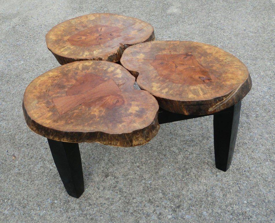 Wood Stump CoffeeTable table ALL THINGS WOOD Pinterest