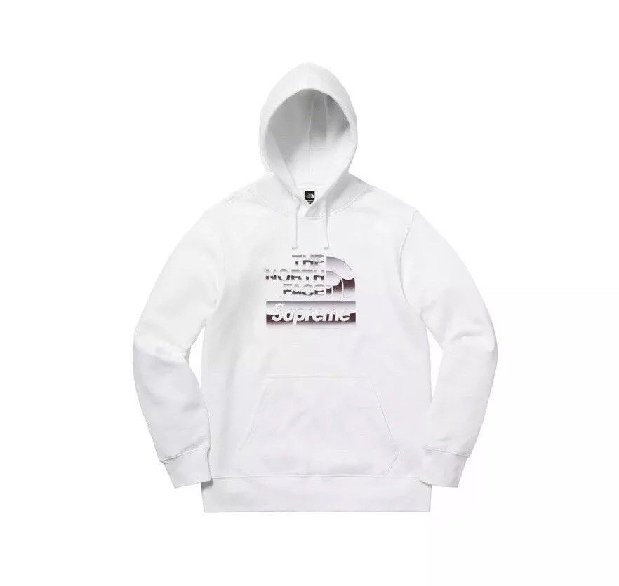 Supreme The North Face Metallic Logo Hooded Sweatshirt White XL 1000/% Authentic