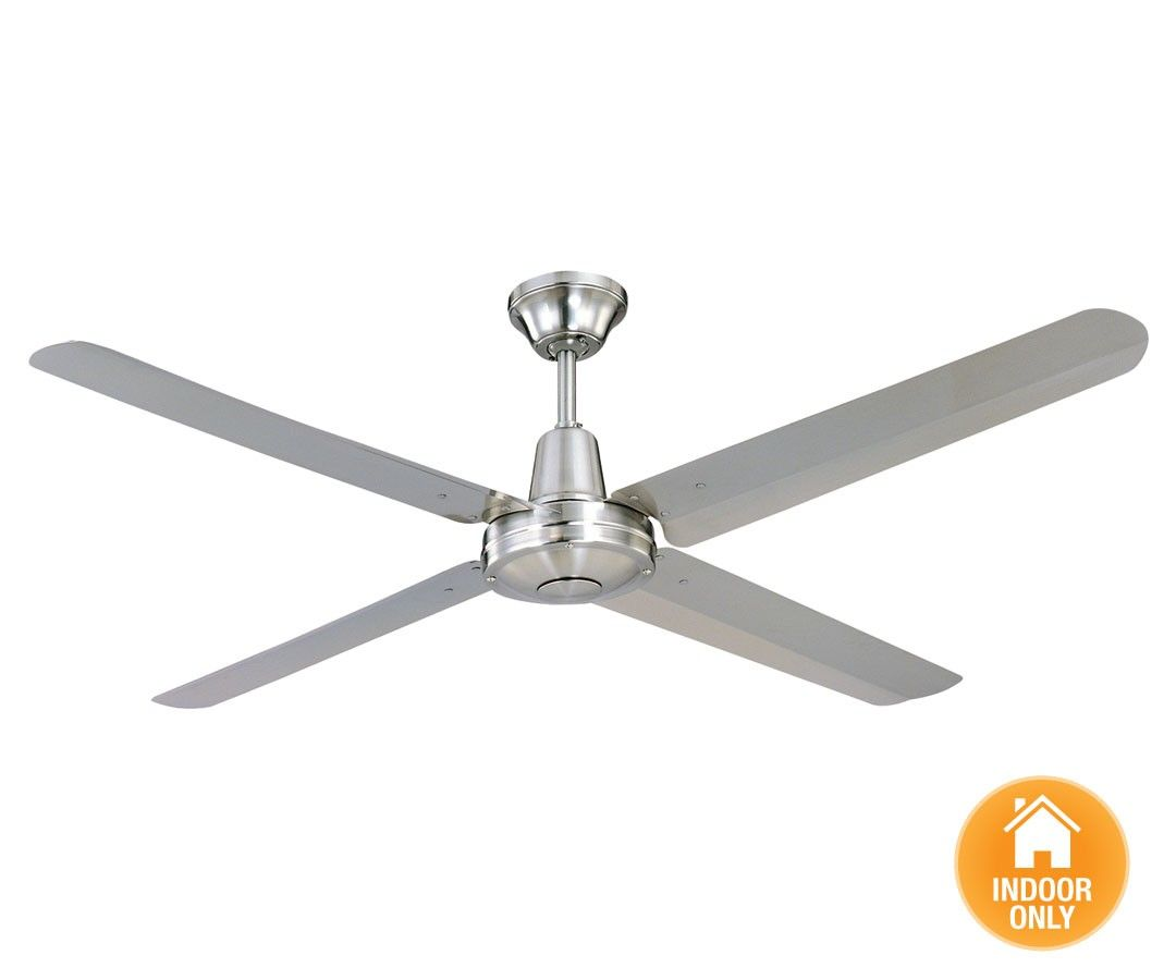 Typhoon 142cm Metal Blade Fan In Brushed Chrome With Stainless Steel ...