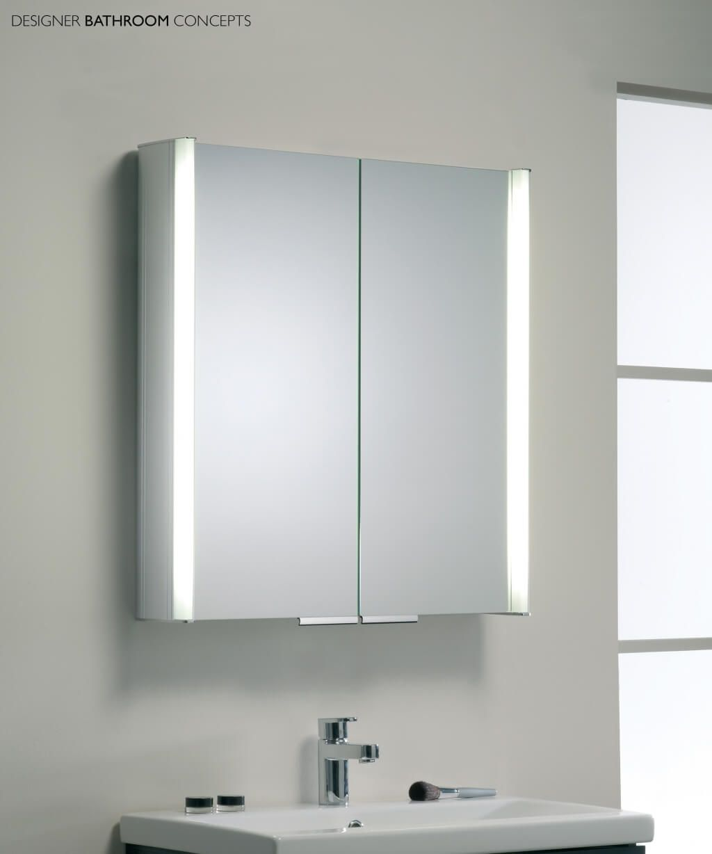 Bathroom mirror cabinet with light and standalone bahtroom for Bathroom mirror with lights