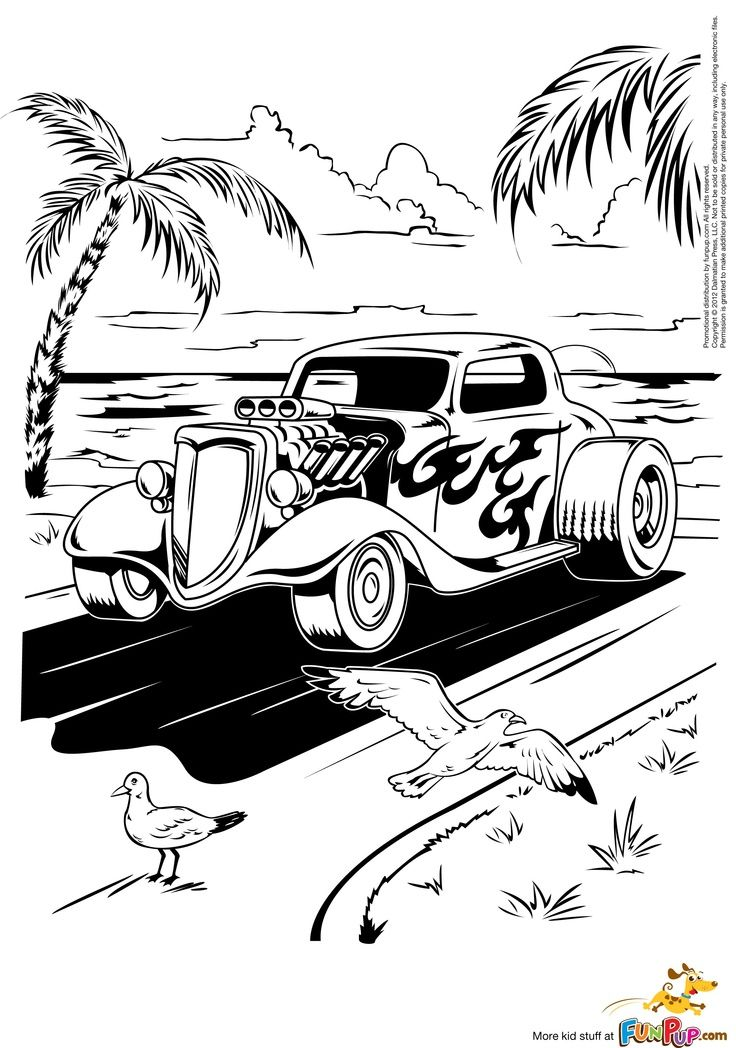 Free Coloring Pages For Adults Cars. Coloring Pages  Pinterest Hot Rods and