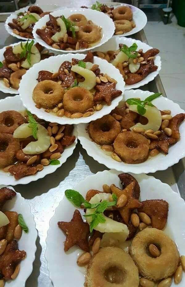 Rkham Cuisine : Ktaif et chbah safra décoration de plats pinterest