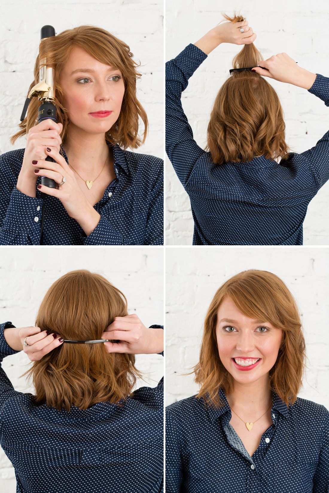 easy minute hairstyles using emma stoneus metal barrette hair