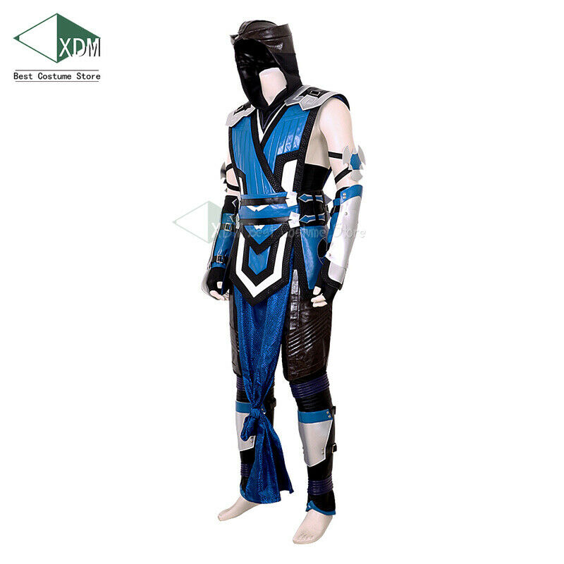 Costume Halloween Cosplay Fancy Dress Full Head Mask Mortal Kombat Sub-Zero