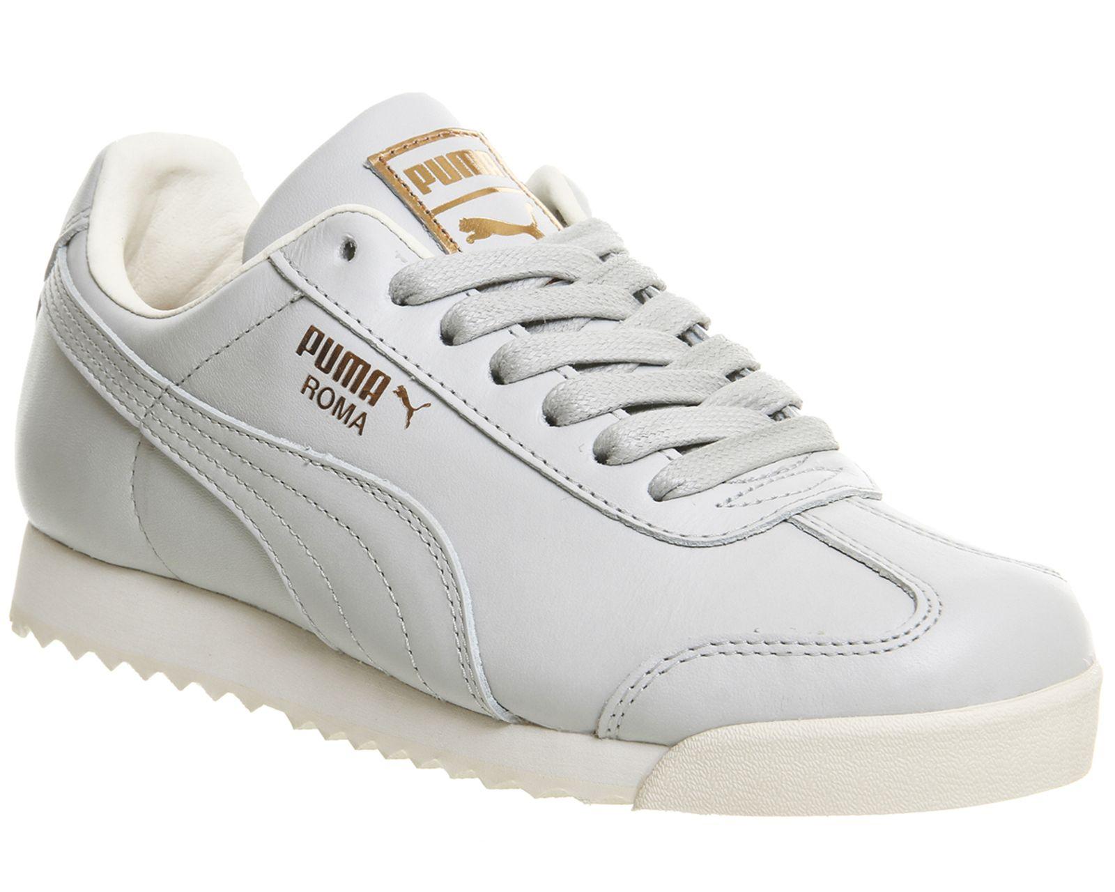 24d82b19 Puma Roma Glacier Grey Lthr Exc | Pumas | Shoes, White leather, Sneakers