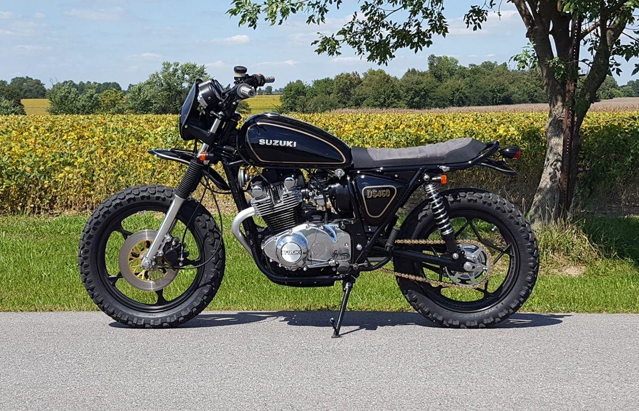 Suzuki Gs450 Scrambler By Brickhouse Builds Scrambler Motorcycle Suzuki Motorcycle