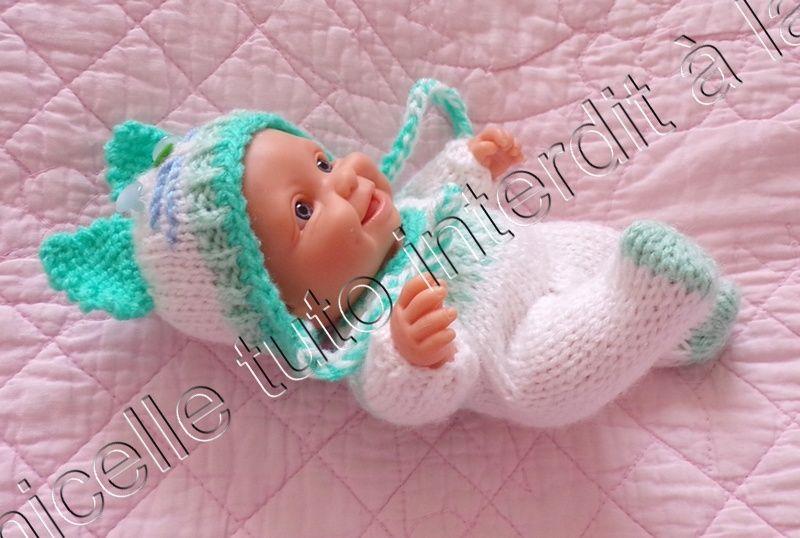 tuto gratuit poupée : bonnet chat | Bonnet chat, Vêtements de poupée bébé et Tricot pour poupon