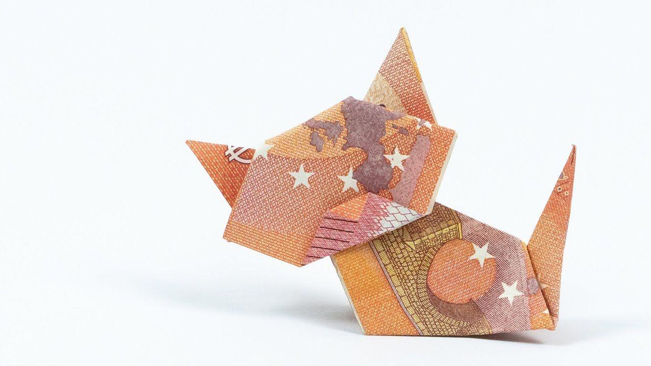 Tiere aus Geld falten � Eine Katze als Geldgeschenk Idee