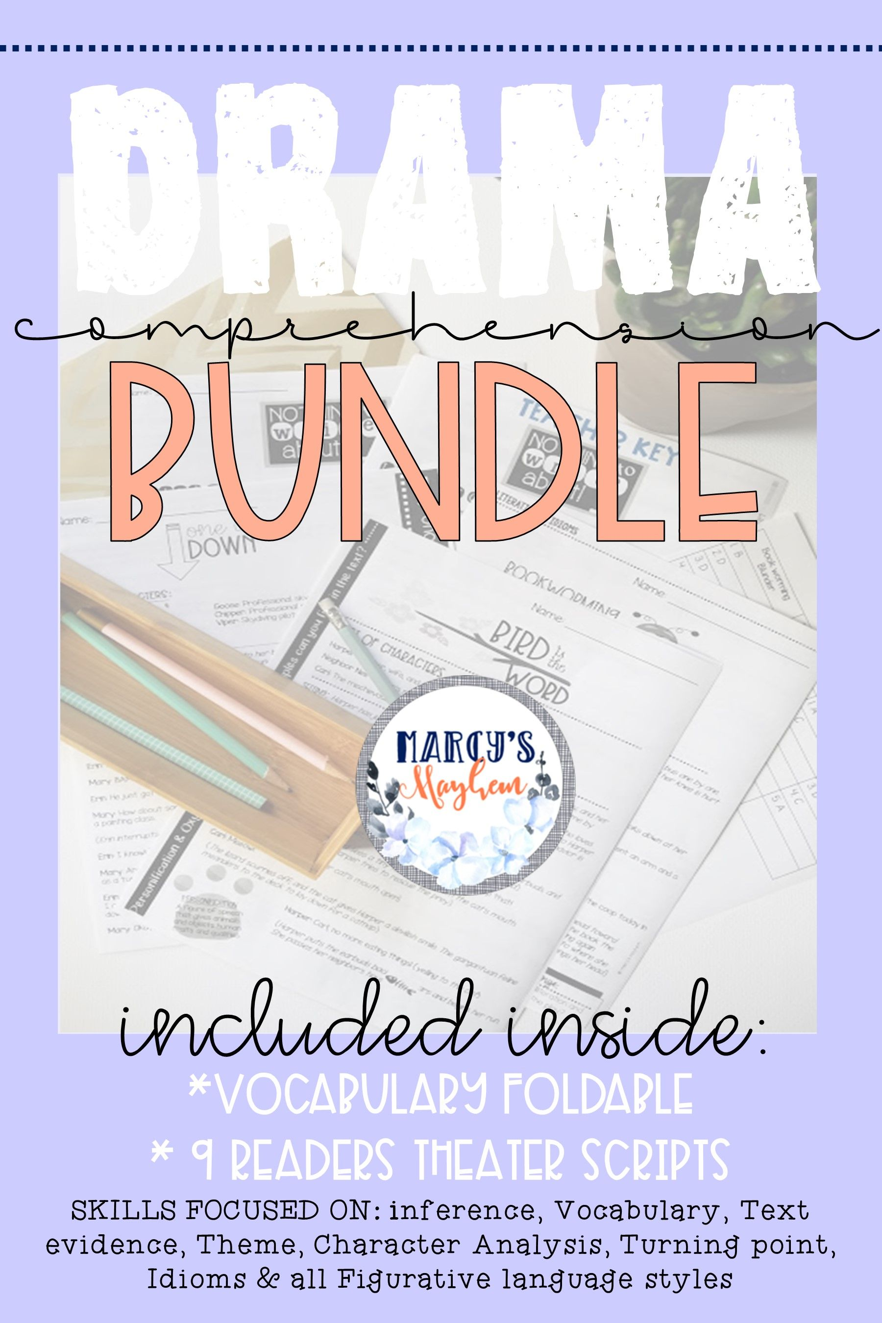 Teach Your Students About The Drama Readers Theater Genre With This Comprehension Bundle Included Comprehension Passage Readers Theater Vocabulary Activities [ 2700 x 1800 Pixel ]