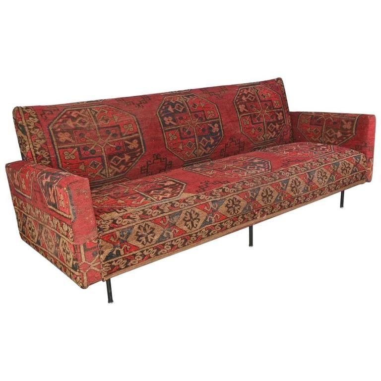 Swell Kilim Covered Mid Century Modern Florence Knoll Sofa Ibusinesslaw Wood Chair Design Ideas Ibusinesslaworg