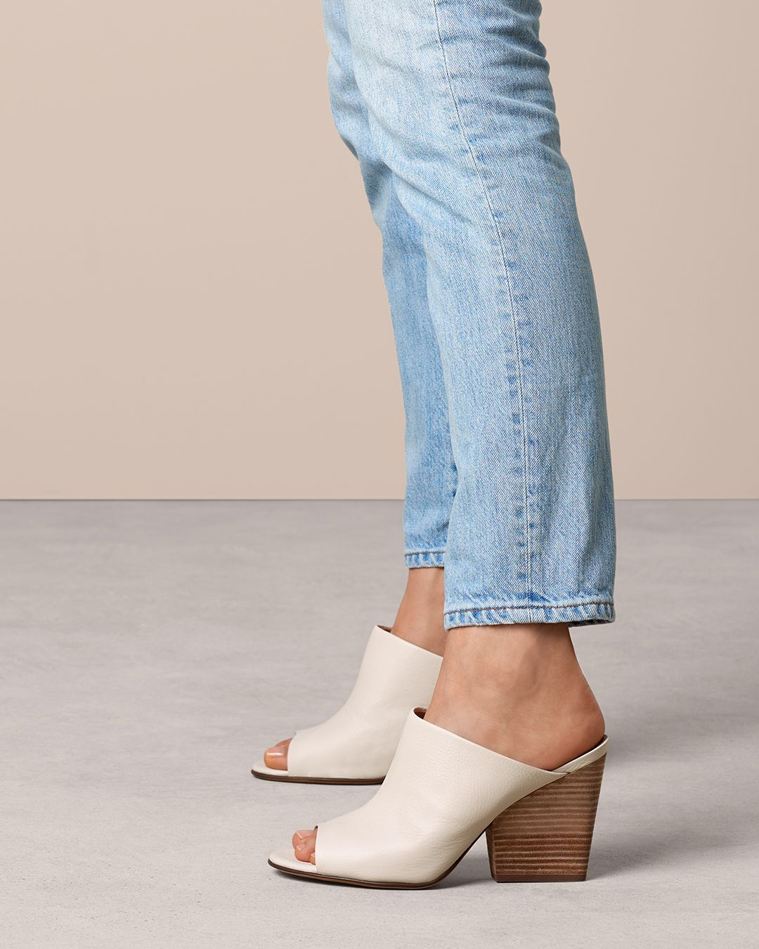 d49ad19c3ac0 Bold and unexpected. The stacked heel slide.  Naturalizer