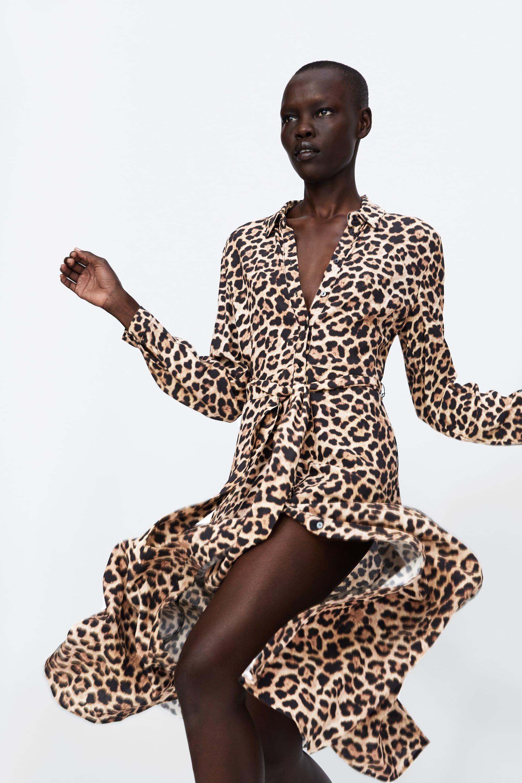 Image 2 of LONG LEOPARD PRINT DRESS from Zara   wardrobe   to buy ... 26b91017be68