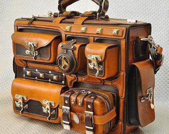 Sale 15%.Leather briefcase. Leather handmade bag. Handbag. | Etsy