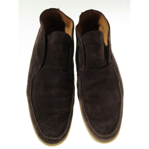 Loro Piana Open Walk Brown Suede Ankle Boot Mens Uk 10 5 Brown Suede Ankle Boots Suede Ankle Boots Dress Shoes Men