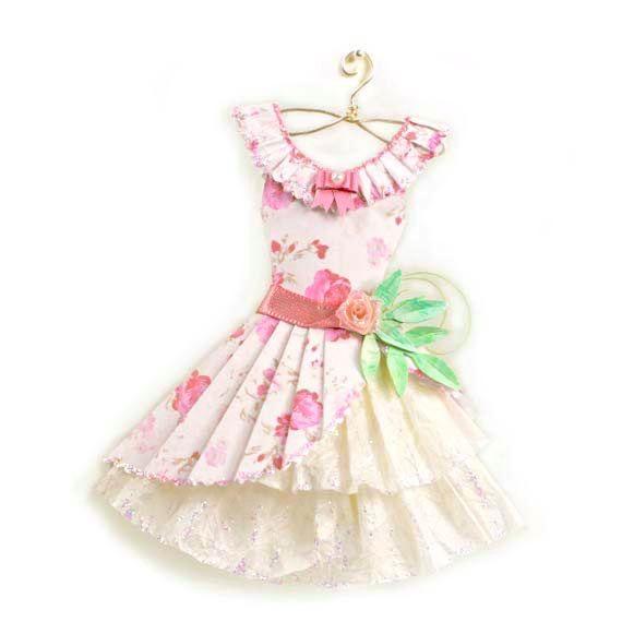 Sweet Lolita Pink Floral Haute Paper Fashion by kellbellestudio, $525.00