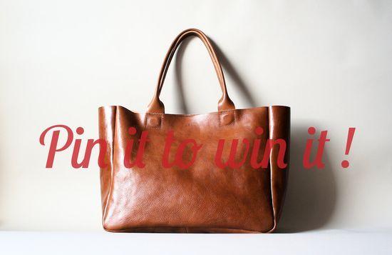 Brown Leather  Bag  Heirloom Tote  Cognac Brown by ribandhull,