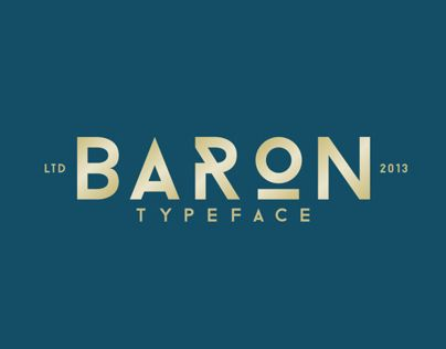 Baron is an free uppercase display typeface inspired by the classic sans serif font family's. This typeface is, because of his many alternative options, perfect for usage in posters and headlines.
