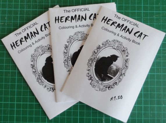 A6 Black & White Cat Zine  The Official by RandomThoughtsBooks