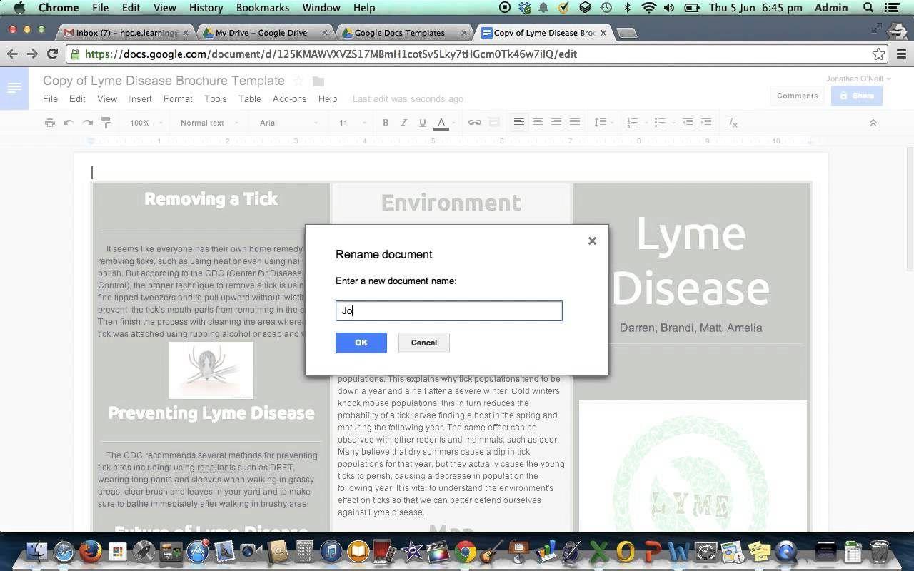 Google Drive Brochure Template