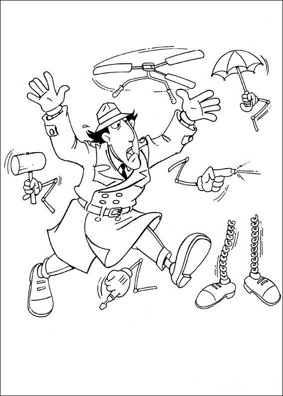 Pin by Ann Lee on Coloring Sheets I. Gadget | Pinterest | Inspector ...