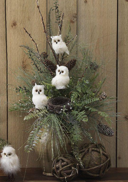 Arrangement Forest Frost Christmas decor Pinterest Frosting - christmas decor pinterest