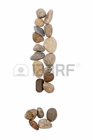 La composición de la piedra signo de exclamación   Signos de ...