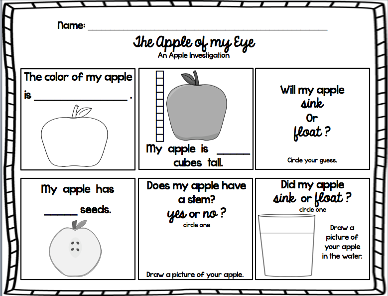 A Is For Apple An Early Learner Bundle Kindergarten Units Apple Fun Educational Activities