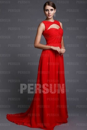 Robe soiree rouge